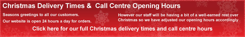 Christmas Delivery Times &  Call Centre Opening Hours