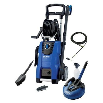 Nilfisk E140.3-9 S X-tra Pressure Washer with Home & Car Bundle