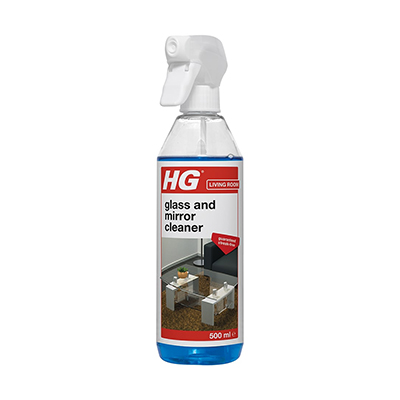 HG glass and mirror spray