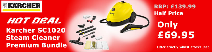 Hot Deal Karcher SC1020 Premium Steam Cleaner Bundle