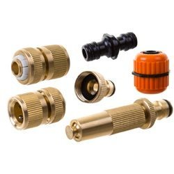 CS Brass Adjustable Spray Nozzle & Connector Kit