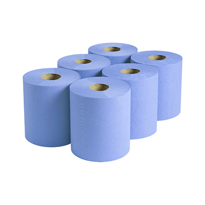 2 Ply Blue Budget Centrefeed Paper Roll
