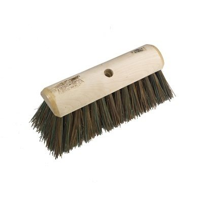 Hill Brush Finest Stiff Sherbro/Polypropylene Yard Broom (305mm)