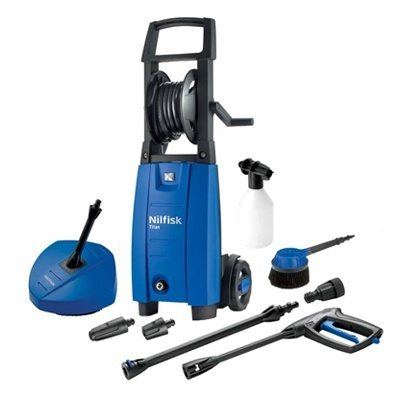 Nilfisk Titan Refurbished Pressure Washer with Compact Patio Cleaner & Rotary Wash Brush