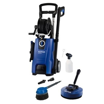 Nilfisk D130.4-9 X-tra Pressure Washer with Mid Patio Cleaner & Rotary Wash Brush