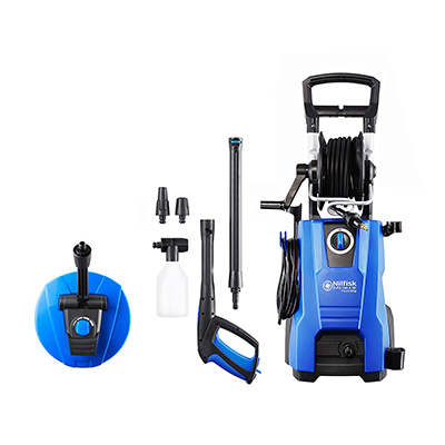 Nilfisk PowerGrip D-PG 140.4-9 X-tra Pressure Washer with Mid Patio Cleaner