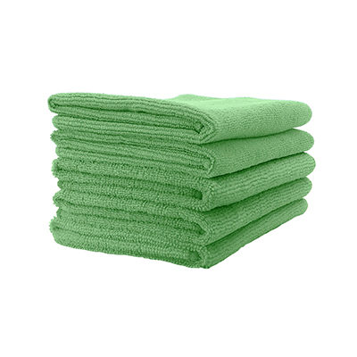 Microfibre Cloth - Lightweight (Green) Pack of 5
