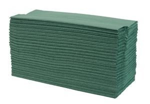C Fold Paper Hand Towel - 1 Ply Green