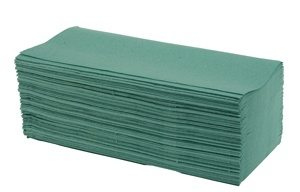 Interfold / V Fold 1 Ply Green Paper Hand Towel