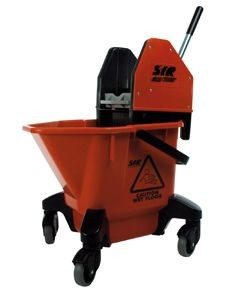 24ltr Mop Bucket with Wringer - Red