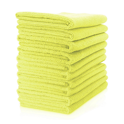 Microfibre Cloth - Lightweight (Yellow) Pack of 10