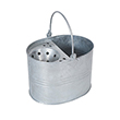 13 Litre Metal Galvanised Mop Bucket & Wringer (Pack of 4)