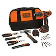 Black & Decker BDCDD12HTSA Lithium Ion Drill Driver with Hand Tools & Bit Set